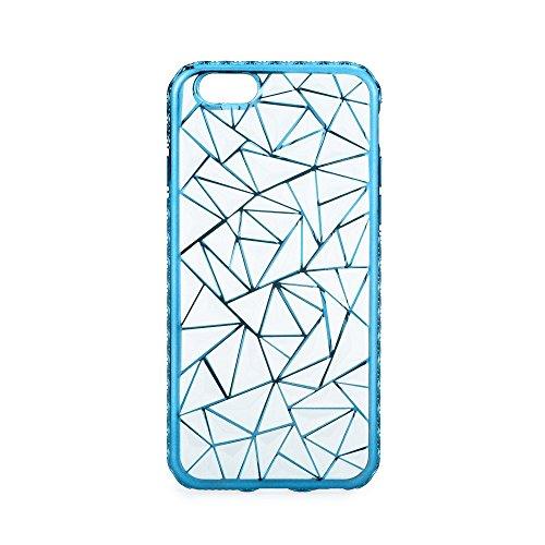 handy-point Glitzer Jelly Case Bling Glitter Glanz Sparkle Back Cover Schutzhülle Schale Gummihülle Gummi Slikonhülle Silikon Hülle für iPhone (Für iPhone 6 / iPhone 6S, Schwarz) Blau