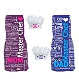 Yaya Cafe Anniversary Gift For Parents,Tyyc Masterchef Mom Dad Aprons Hamper With Chef Hats