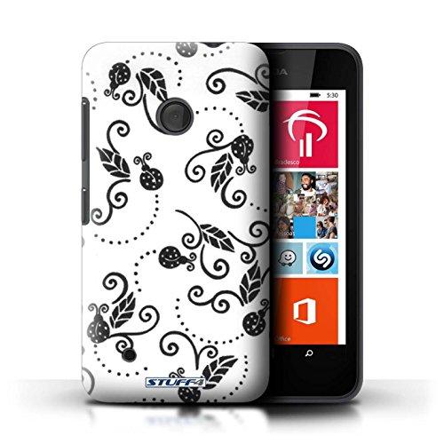 Kobalt® Imprimé Etui / Coque pour Nokia Lumia 530 / Rouge conception / Série Motif Coccinelle Noir / Blanc