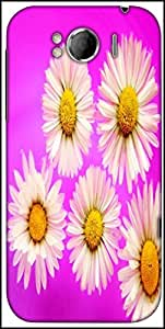Snoogg Daisies Designer Protective Back Case Cover For HTC Sensation Xl