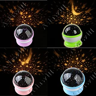 Asiawill Novelty Rotation Room Night Light Lamp Flashing Cosmos Starry Star Night Sky Projector USB Projector Light Lamp
