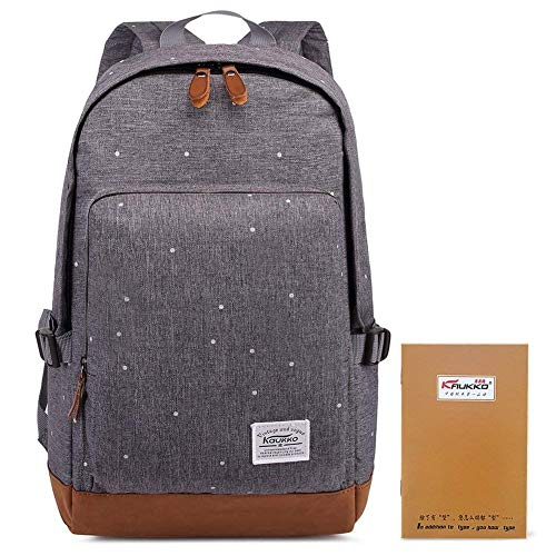 k Studenten Backpack Laptop College Schulrucksack Reiseeucksack, Large, Grau ()