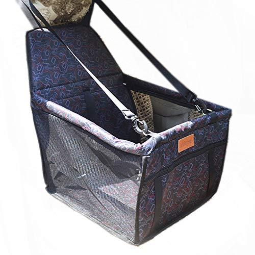 L7-box (Portable Haustier Autositz, Katze Und Hund Auto Reisetasche Atmungsaktiv, Wasserdicht, Mit Sicherheitsgurt Faltbareautositzbezug Geeignet Für Kleine Und Mittlere Haustiere,L7)