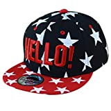 THENICE Kind Hip-Hop Cap Baseball Kappe Hut (Star schwarz)