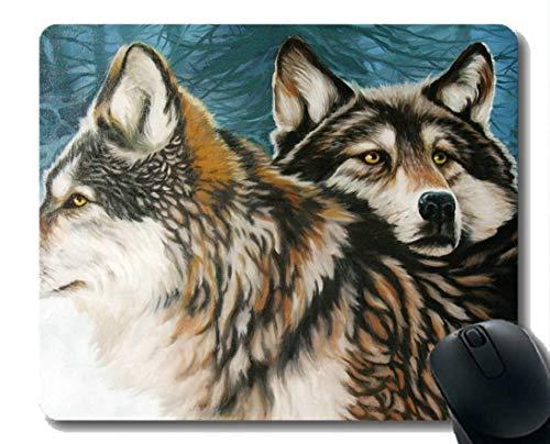 Rechteck-Mausunterlage, Tier Wolf abstrakt Gummi große Mauspad Matte