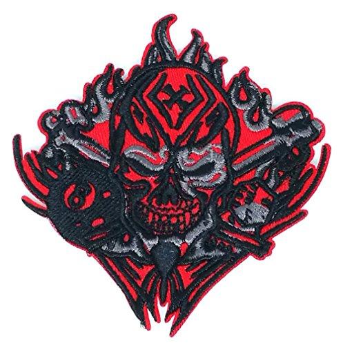 Totenkopf Schwert Patch Eisen auf Logo Weste Jacke Gap Hoodie Rucksack Patch Iron On/Sew On Patch -