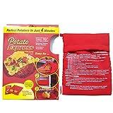 JL Futuro Express de Patata microondas Bolsa de Patatas Cocina Patatas en microondas, Color Rojo