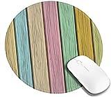 Tappetino per Mouse colorato con plancia in Legno Vecchio Stile Rustico Rustico Decorazione della casa in Campagna Stampa Antiscivolo Mouse Pad da Gioco