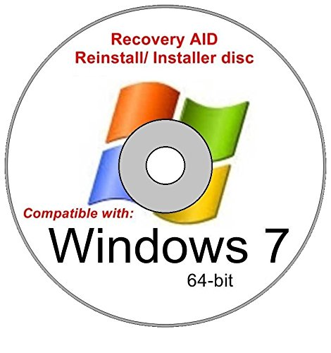 Windows 7 Home Premium 64 Bit New Reinstall Operating System Boot Disc - Repair Restore Recover DVD