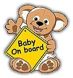 Baby On Board Sign Teddy Bear Auto-Dekor-Vinylaufkleber 12 X 12 cm
