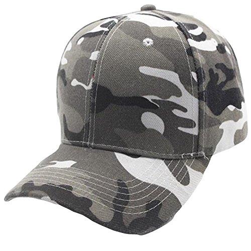 UJUNAOR Damen Herren Camouflage Baseball Cap Snapback Hut Hip-Hop Einstellbar Unisex Caps(Grau) Pioneer-boot-jean