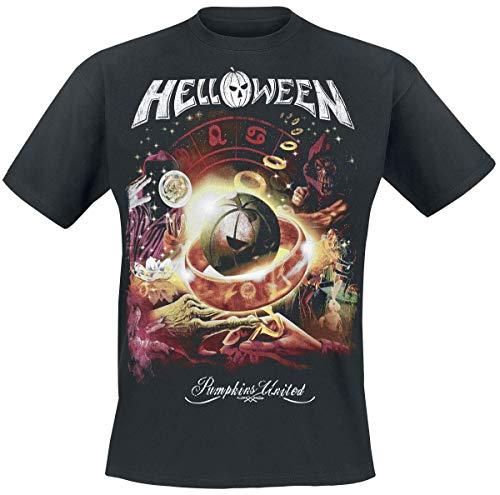 Helloween Tour Collage Camiseta Negro M