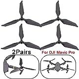Colorful Geräuscharme Low-Noise Propeller für DJI Mavic 2 Pro, Carbon Faser Propeller 3-Blatt,Mavic 2 Pro Drohne Quadrocopter Zubehör Ersatz (2 Paar)