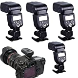 Magicdeal PT-04GY 4 Channels Wireless/Radio Flash Trigger+4 Receivers for Canon Nikon