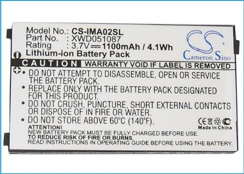 CS-IMA02SL Akku 1100mAh Kompatibel mit [I-Mate] PDA-L, PDAL, [DOPOD] Pean Ersetzt UF553450U, UF553450Z, XWD033454, XWD051087 Dopod Pda