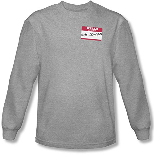 Funny Tees - Männer Hallo Hugh Jorgan Longsleeve T-Shirt, XX-Large, Athletic Heather