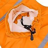 Sneff Trade Hundemantel Regenmantel Hund Hundebekleidung Hundejacke Wintermantel Regenjacke Leichte Einstellbare Reflektierende Jacke Hoodie für Kleine und Große Hunde - 6
