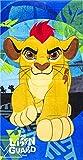 Kinder Handtuch/Saunatuch / Strandtuch/Duschtuch / Badetuch für 70 x 140 cm Motiv Lion King Guard - aus Baumwolle- tolles Geschenk für Jungen und Mädchen