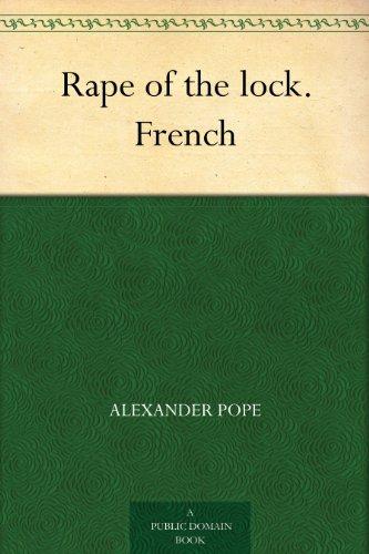 Couverture du livre Rape of the lock. French