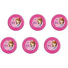 Disney Princesa Sofia, 0293, Pack de 6 platos de plástico reutilizables para fiestas y cumpleañoss (Princesa Sofia platos)