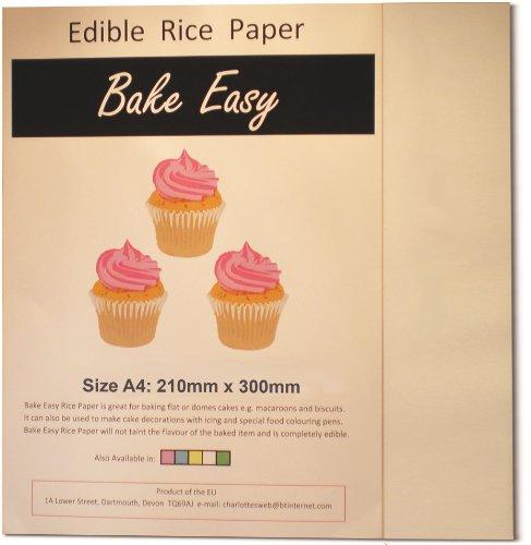 Essbare Waffel Reispapier Blätter A4 Weiß - 25 Stück