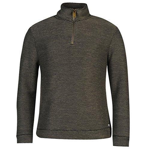 ocean-pacific-herren-waffle-sweatshirt-langarm-stehkragen-pullover-1-4-zip-charcoal-small