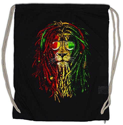 Urban Backwoods Rastafari Lion I Turnbeutel Sporttasche