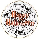 """Haut Décoration Glaçage Sucre Comestible Happy Halloween Toile Araignée Design Décoration 7.5"""""""