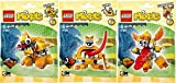 Lego, Mixels Series 5 Bundle Set of Lixers, Spugg (41542), Turg (41543), and Tungster (41544)
