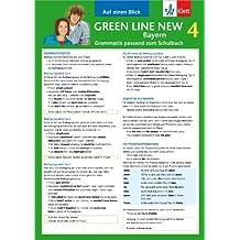 Green Line New Bayern 4 - Auf einen Blick: Grammatik passend zum Schulbuch - Klappkarte (6 Seiten)
