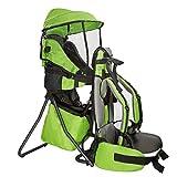 clevr de mochila Carrier Soporte ligero para bebé niño Kid Sun Shade Visor Escudo, rojo o verde