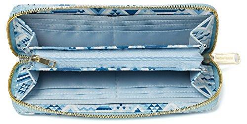 Keshi neuer Stil geldbörse damen lang Blau