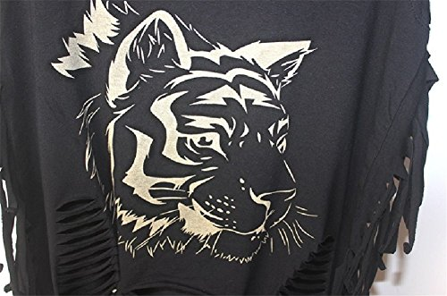 Damen Sexy Straße Punk Hippie T-Shirt Shirt Weste Tanktop Damenbluse Tops Ärmellos Tassel Einmalig #3