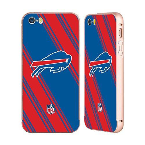 Ufficiale NFL Pattern 2017/18 Buffalo Bills Oro Cover Contorno con Bumper in Alluminio per Apple iPhone 5 / 5s / SE Righe