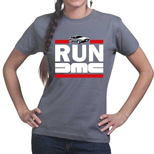 RUN DMC Delorean Car Time Machine Ladies T shirt