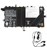 amsahr 00HW046-03 Ersatz Batterie für Lenovo 00HW046, ThinkPad X1 Tablet (7.5V, 37Wh) Umfassen Stereo Ohrhörer Schwarz