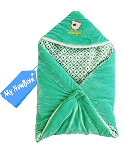 MY NEWBORN Baby Blanket cum Baby wrapper with Hood Cap -Multipurpose Sleeping Bag  available at amazon for Rs.240