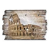 Kreative Feder Kolosseum Designer Schlüsselbrett, Hakenleiste Landhaus Style, Shabby aus Holz 30x20cm, HSB034