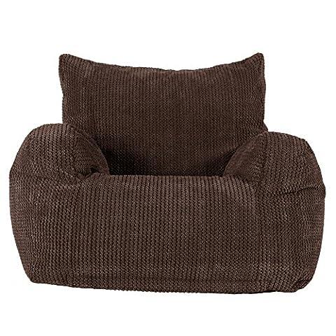 LOUNGE PUG - Pom Pom - Bean Bag Chairs - Adult Beanbag Armchair UK - CHOCOLATE BROWN