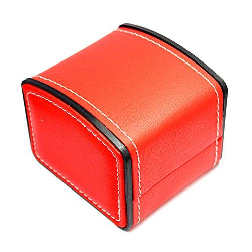 PU-lederner quadratischer Geschenk Armband Uhr Kasten für einzelnen Kasten