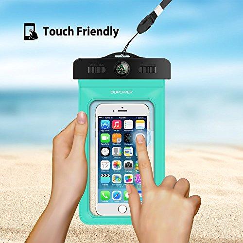 db DBPOWER Funda Impermeable Móvil  Funda Bolsa Sumergible y Colorida con Brazalete para iPhone 6/6 plus/6s/6s plus/5/5s/4  Samsung Galaxy S6/S6 Edge/S5/S4  Note 4/3/2  Certificado IPX8 para 100 Pies  Ventana Transparente y Sensible al Tacto