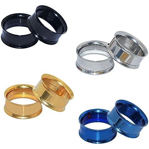 D&M Jewelry 8 Piezas de Color Negro/Azul/Dorado/Plateado 8g-1