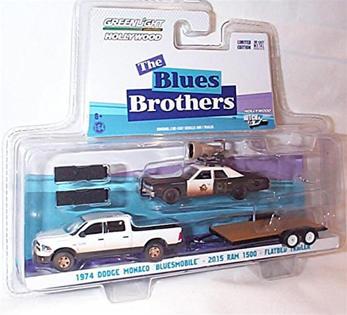 greenlight-entertainment-hollywood-hitch-tow-black-white-the-blue-brothers-1974-dodge-monaco-bluesmo