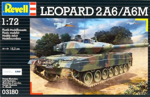 Revell Modellbausatz Panzer 1:72 - Leopard 2 A6/A6M im Maßstab 1:72, Level 4