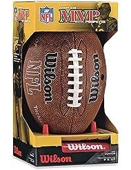 Wilson NFL MVP Junior Football with Pump and Tee, Brown by Wilson