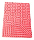David Fussenegger 16381170 Maja 100% Baumwolldecke Kleinmuster GOTS Zertifiziert, Baumwoll-Mischgewebe, rot, 100 x 75 x 100 cm