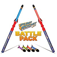 Pump Rocket JR Battle Pack with 2 Launchers + Pack of JR Replacement Rockets