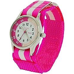 Reflex Time Teacher Hot Pink & White Easy Fasten Girls Childrens Watch REFK0006