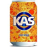 Kas Naranja - Bebida refrescante de zumo de fruta, lata 33 cl - [pack de 12]