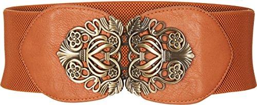 BlackButterfly 3 Zoll Breit Korsett Elastische Vintage Taillengürtel (Braun, EUR 38-40) -
